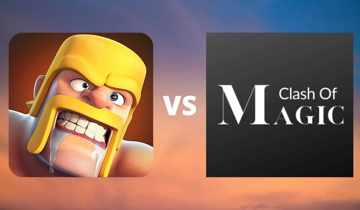 what difference between clash of clans and clash of magic